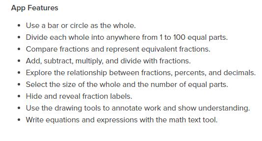 Fractions App