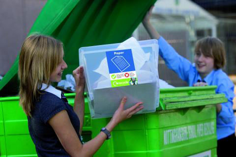 set up recycling at your school