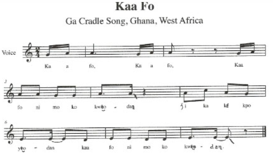West African songs and chants
