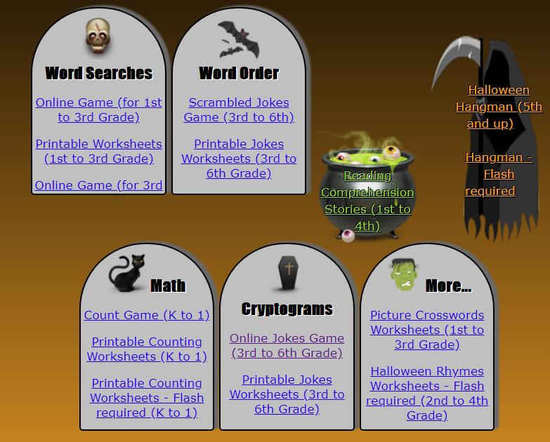 Halloween literacy resources