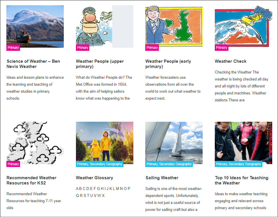 Weather Teaching Resources