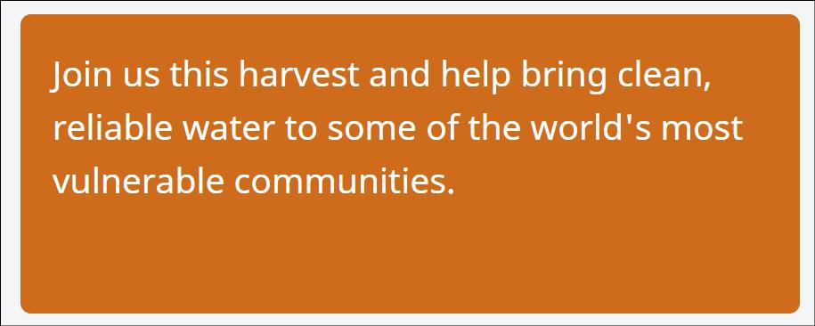 Harvest Appeal 2021